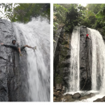 Climbing dan Rafling di Tebing Curug yang Sedang Hits Di Bogor